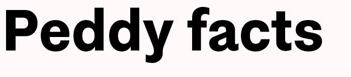 peddyFacts